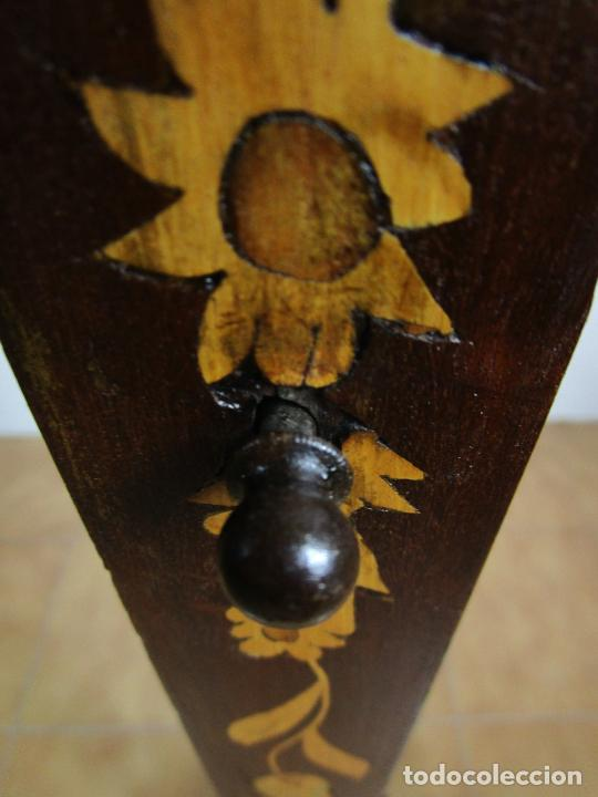 Antigüedades: Protege Chimenea - Sello W.F Greenwod & Sons Ltd, York, Inglaterra - Madera y Marquetería - S. XIX - Foto 20 - 200317068