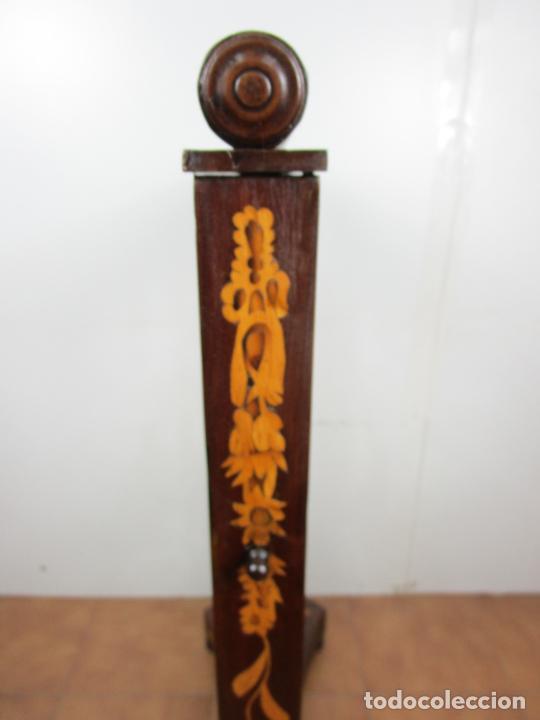 Antigüedades: Protege Chimenea - Sello W.F Greenwod & Sons Ltd, York, Inglaterra - Madera y Marquetería - S. XIX - Foto 27 - 200317068