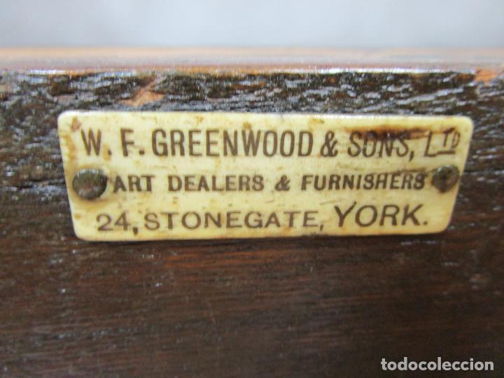 Antigüedades: Protege Chimenea - Sello W.F Greenwod & Sons Ltd, York, Inglaterra - Madera y Marquetería - S. XIX - Foto 33 - 200317068