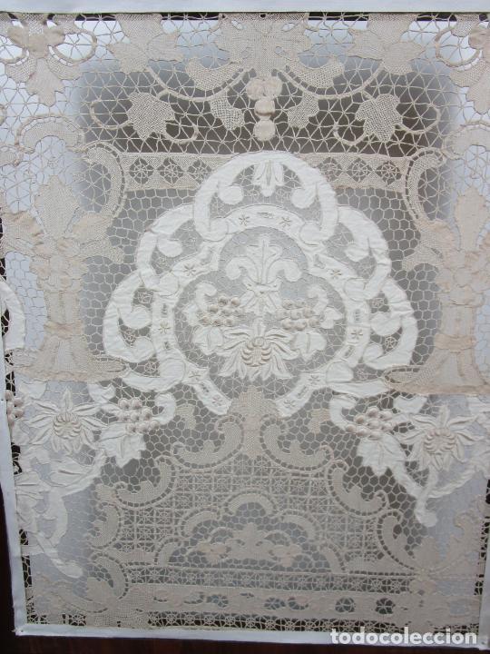 Antigüedades: Protege Chimenea - Sello W.F Greenwod & Sons Ltd, York, Inglaterra - Madera y Marquetería - S. XIX - Foto 35 - 200317068