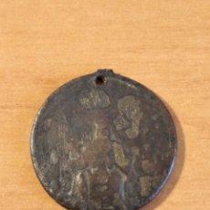 Antigüedades: BRO 505 - MEDALLA RELIGIOSA - ANVERSO FIGURA VIRGEN SENTADA. Lote 200318206