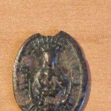 Antigüedades: BRO 516 - MEDALLA RELIGIOSA - DELICADOS DETALLES REALIZADA EN COSPEL DE ÉPOCA. Lote 200375570