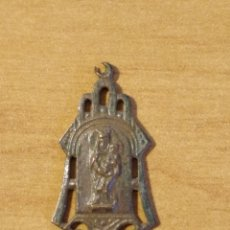 Antigüedades: BRO 527 - MEDALLA RELIGIOSA - DELICADOS DETALLES REALIZADA EN COSPEL DE ÉPOCA. Lote 200509277