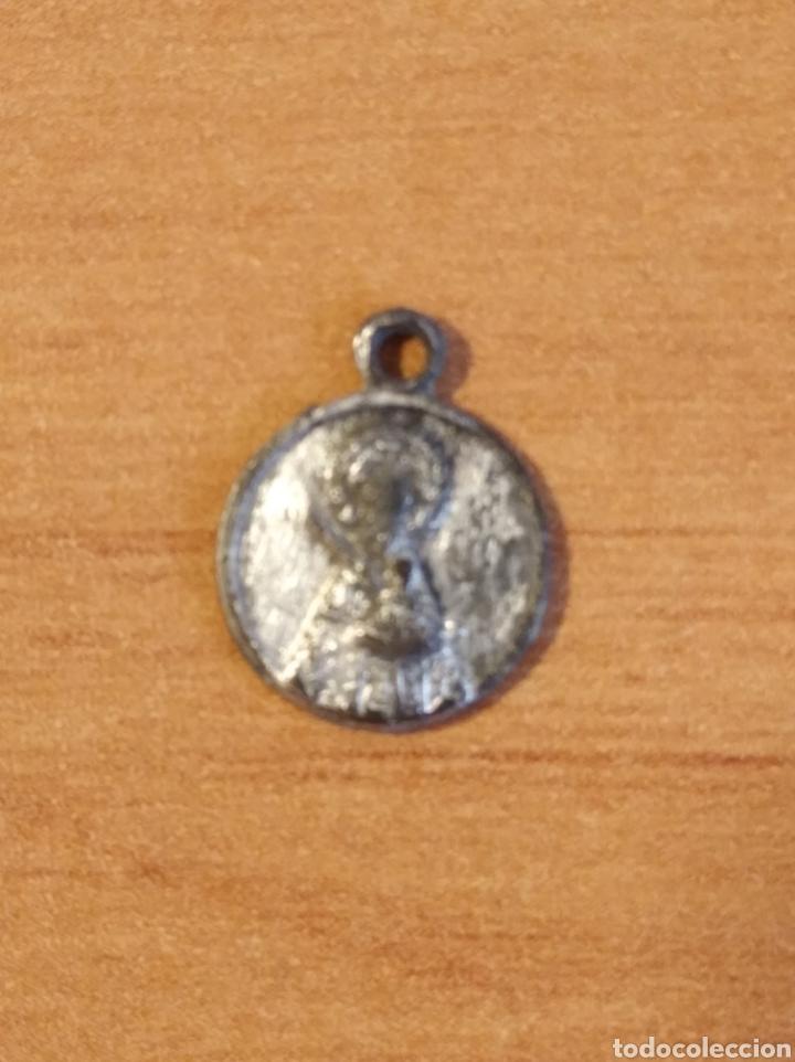 Antigüedades: MON 1487 - MEDALLA RELIGIOSA - DELICADOS DETALLES REALIZADA EN COSPEL DE ÉPOCA - Foto 2 - 200513327