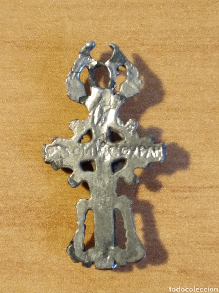 Antigüedades: MON 1490 - CRUCFIJO ANTIGUO DELICADOS DETALLES REALIZADO EN COSPEL DE ÉPOCA CONSERVA PÁTNA ANTI - Foto 7 - 200516545
