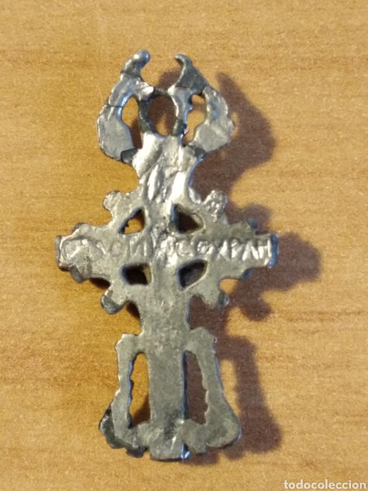 Antigüedades: MON 1490 - CRUCFIJO ANTIGUO DELICADOS DETALLES REALIZADO EN COSPEL DE ÉPOCA CONSERVA PÁTNA ANTI - Foto 8 - 200516545