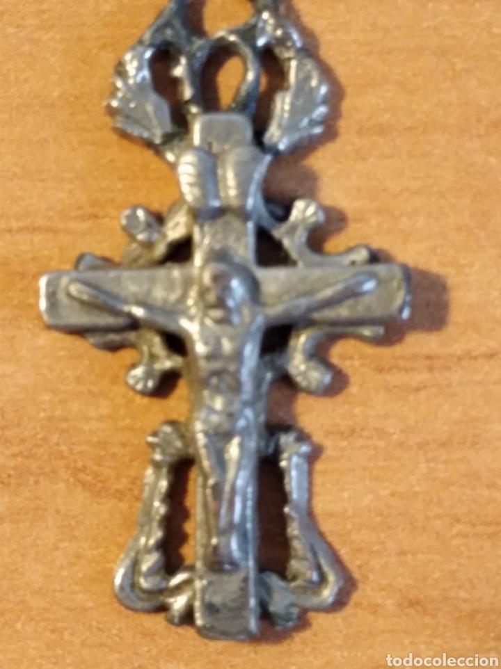 MON 1490 - CRUCFIJO ANTIGUO DELICADOS DETALLES REALIZADO EN COSPEL DE ÉPOCA CONSERVA PÁTNA ANTI (Antigüedades - Religiosas - Crucifijos Antiguos)