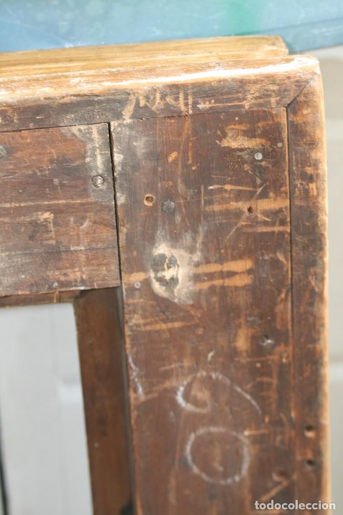 Antigüedades: Marco tallado en madera y dorado siglo XIX - Foto 2 - 200533682