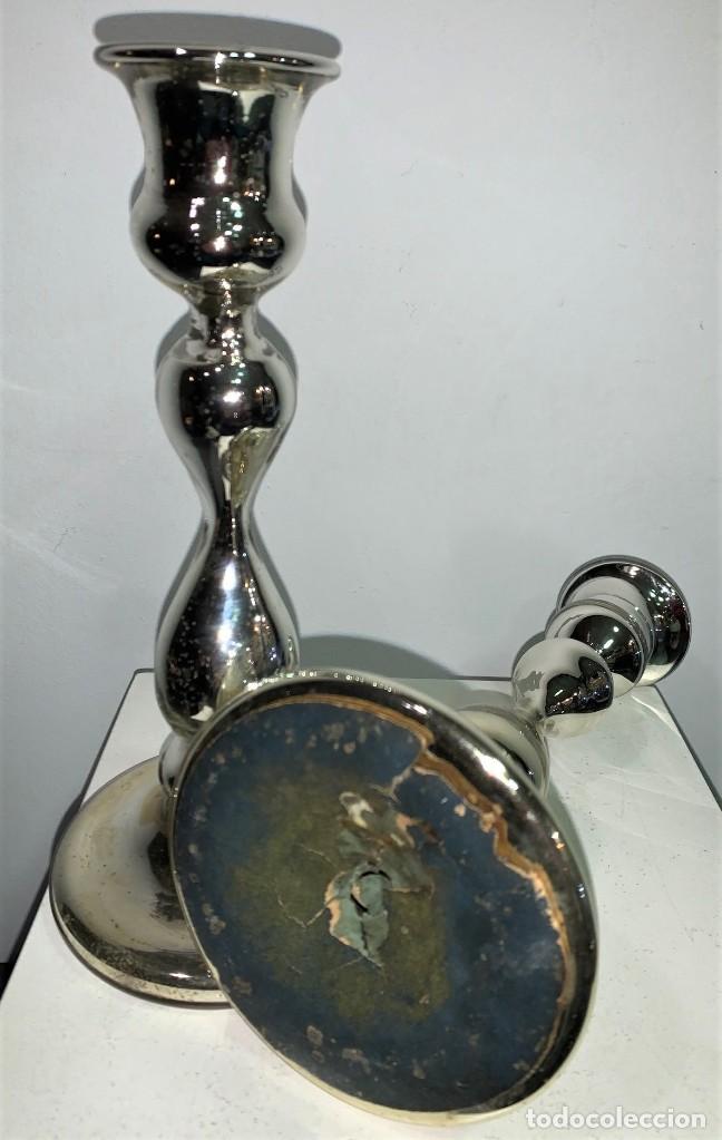 Antigüedades: Par de candeleros de La Granja. - Foto 3 - 200534491