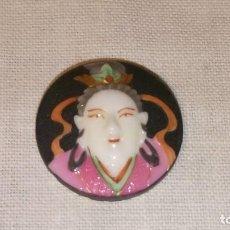 Antigüedades: ~~~~ TOSHIKANE PORCELANA POLICROMADA, JAPON, IDEAL PARA MONTAR EN JOYA, ANILLO, COLGANTE, ....~~~~. Lote 200544098