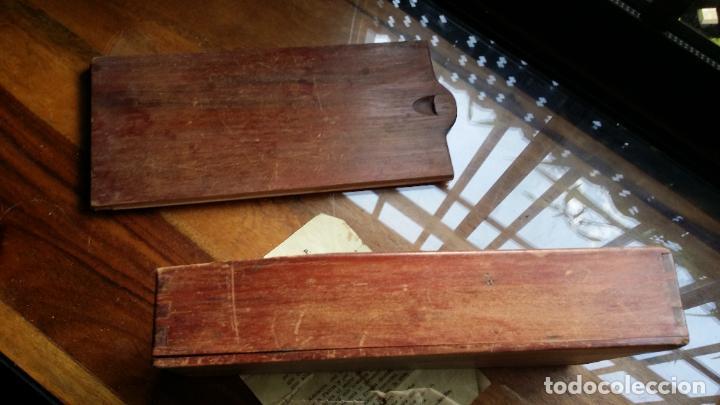 Antigüedades: de madera noble como para dominó y naipes - Foto 2 - 200553585
