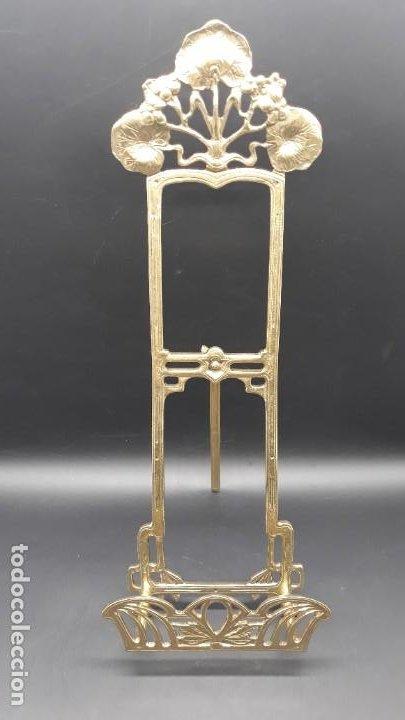Antigüedades: Suporte en bronce para Platos - Estilo Arte Nova - Foto 2 - 200560205