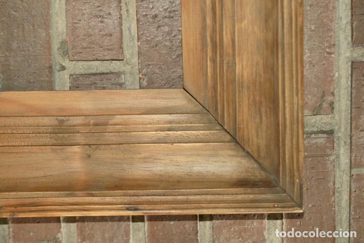 Antigüedades: Marco en madera de pino finales XIX- principios del XX - Foto 2 - 200565881