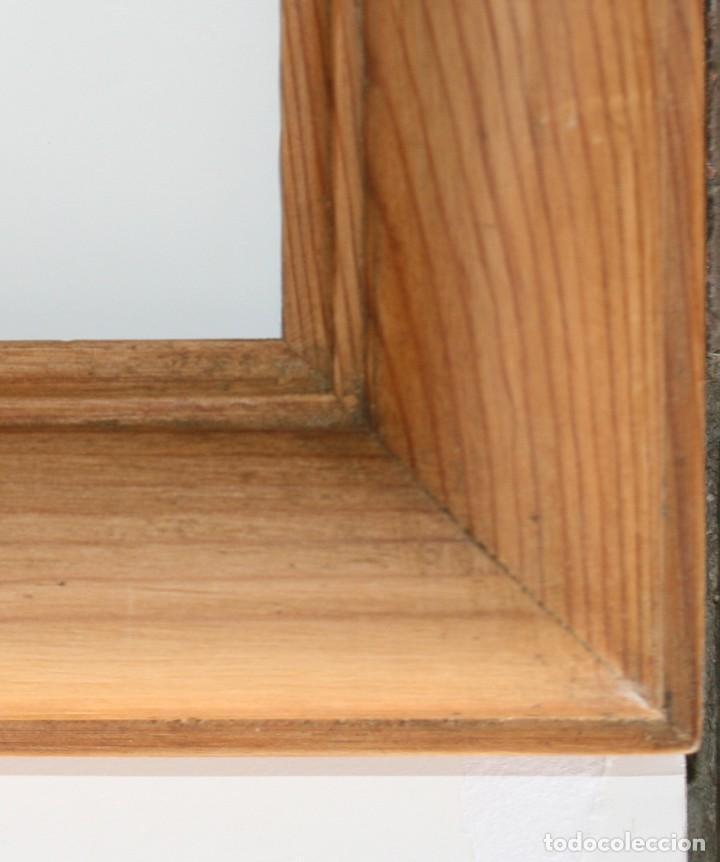 Antigüedades: Marco de madera de pino natural - Foto 2 - 200566675
