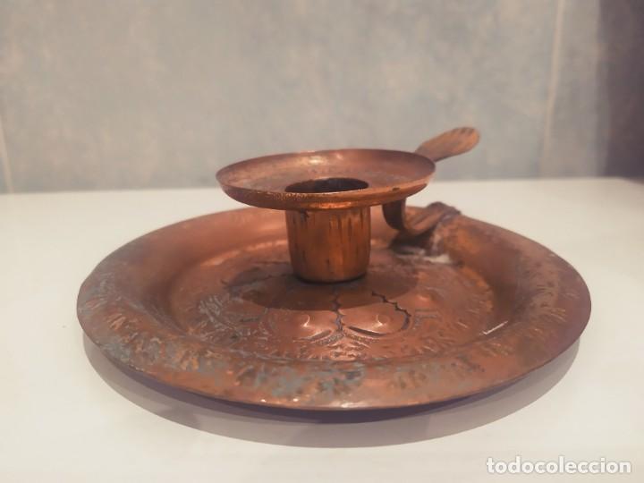 Antigüedades: MINI PORTAVELAS LATON - Foto 6 - 200575945