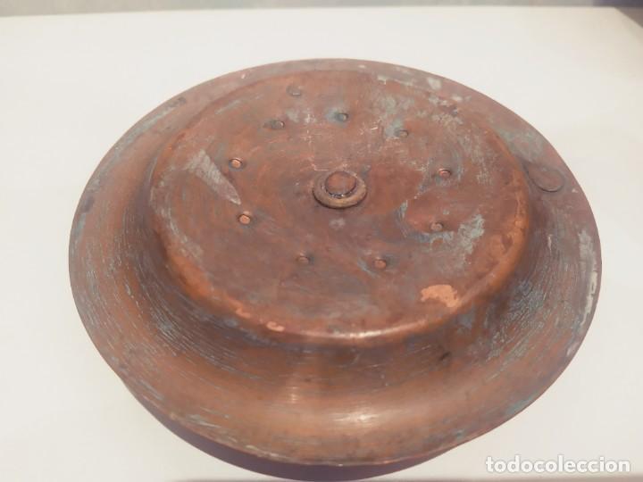 Antigüedades: MINI PORTAVELAS LATON - Foto 7 - 200575945
