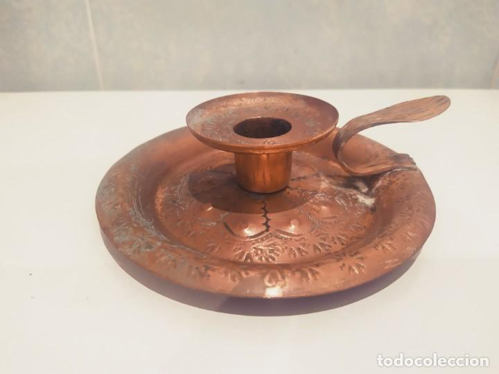 Antigüedades: MINI PORTAVELAS LATON - Foto 11 - 200575945