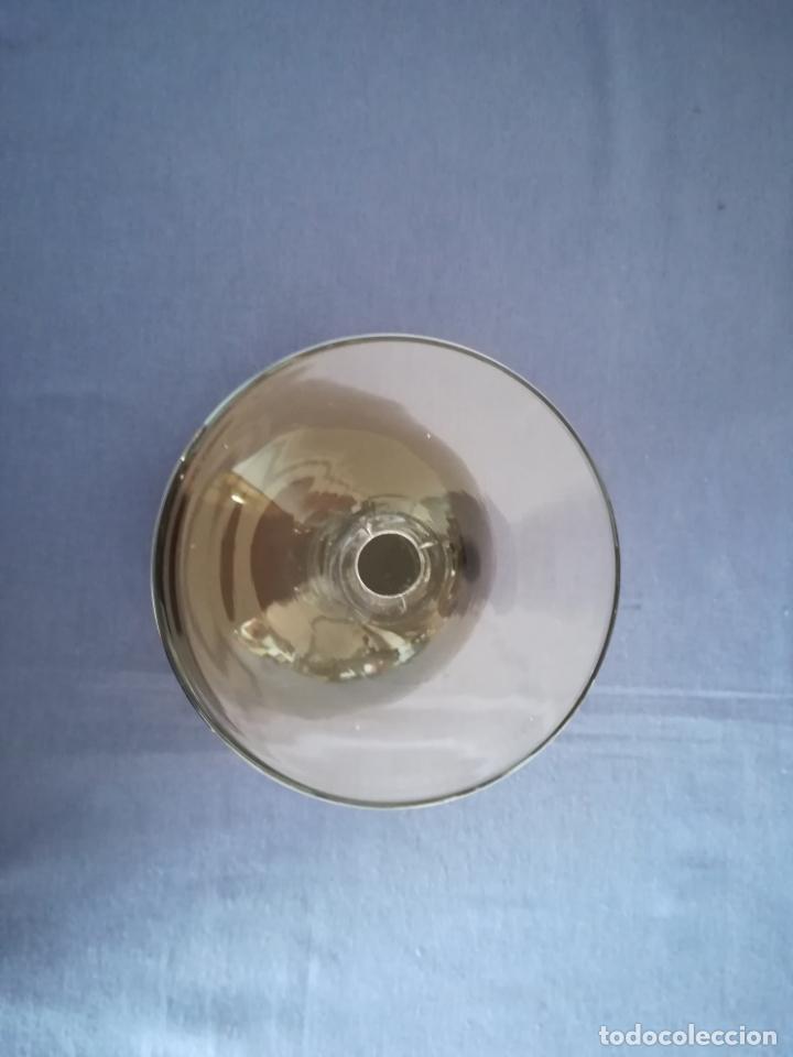 Antigüedades: Copa de cristal de Murano de los años 80, altura 20 cm (con 2 chips) - Foto 6 - 200589661