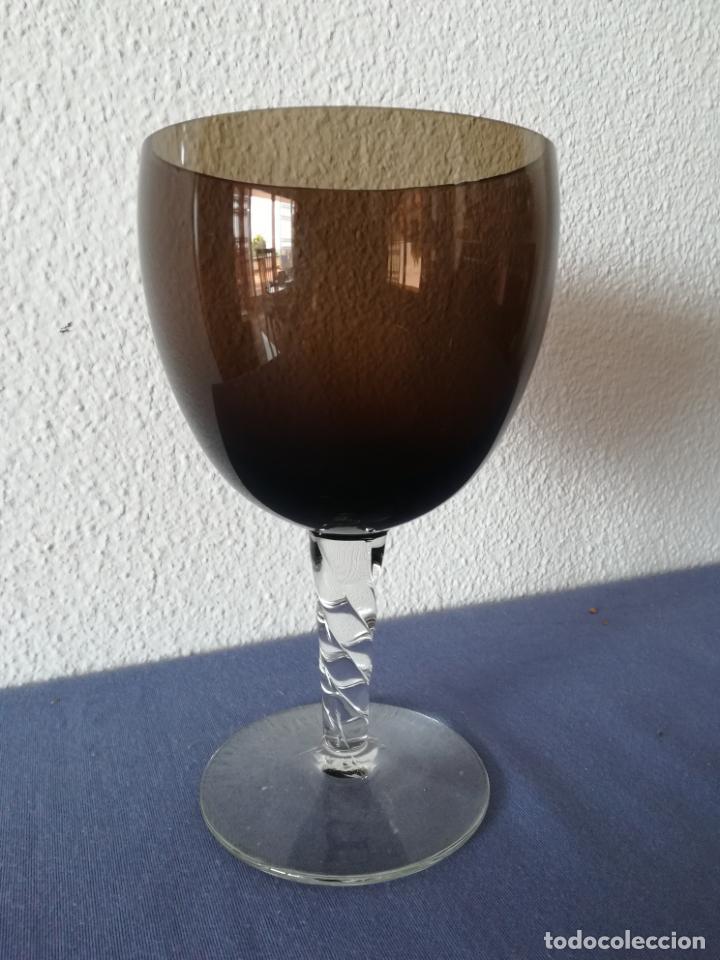 Antigüedades: Copa de cristal de Murano de los años 80, altura 20 cm (con 2 chips) - Foto 10 - 200589661