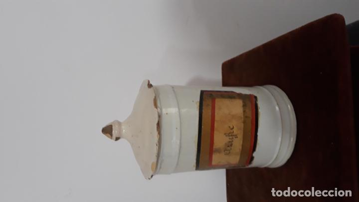 Antigüedades: tarro albarelo en ceramica de talavera siglo xviii-xix - Foto 4 - 200607950
