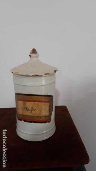 TARRO ALBARELO EN CERAMICA DE TALAVERA SIGLO XVIII-XIX (Antigüedades - Porcelanas y Cerámicas - Talavera)