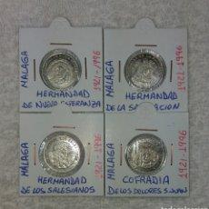 Antigüedades: MEDALLAS COFRADIAS DE MALAGA 75 ANIVERSARIO 1996. Lote 200635448