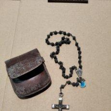 Antigüedades: ROSARIO ANTIGUO CON FUNDA. Lote 200640643