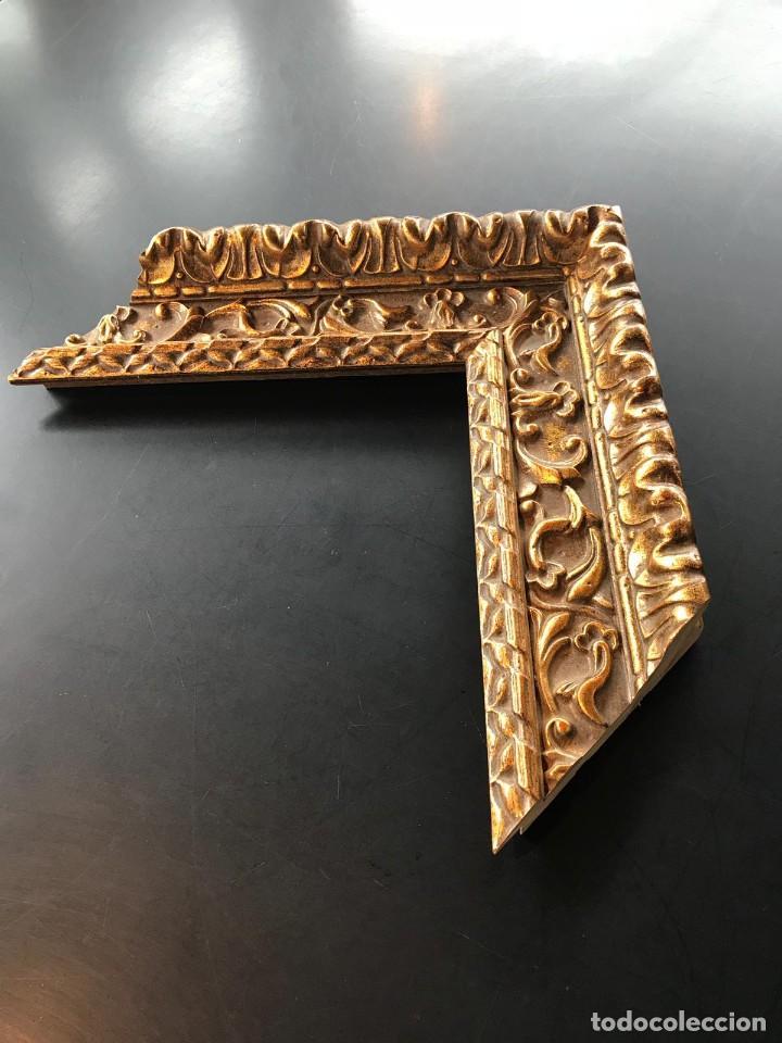Antigüedades: EXCELENTE MOLDURA DE BUENA CALIDAD. PARA 61X50 (F12). A ESTRENAR. - Foto 9 - 111694983