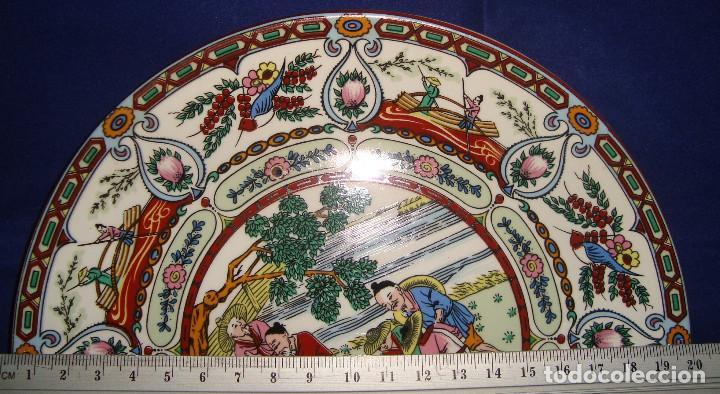 Antigüedades: PLATO DE PORCELANA ASIATICA SELLO EN LA BASE, 20CM. - Foto 3 - 200733541