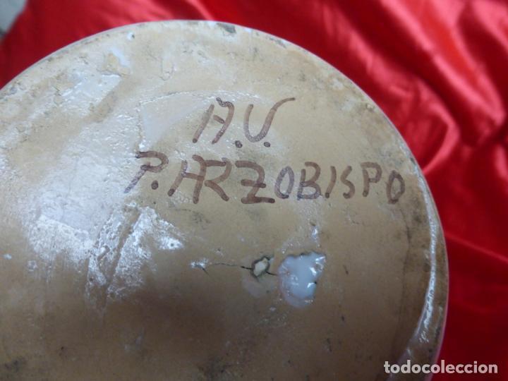 Antigüedades: Antiguo tarro para miel de porcelana Puente del Arzobispo decorado - gran tamaño - - Foto 3 - 200736352