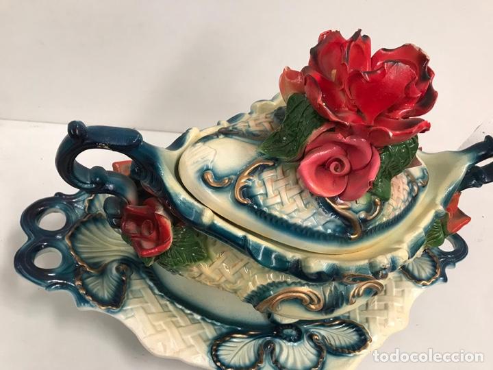 Antigüedades: Sopera de porcelana de lujo - Foto 2 - 200759981