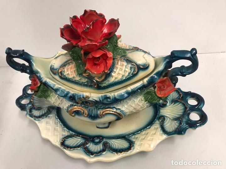 Antigüedades: Sopera de porcelana de lujo - Foto 3 - 200759981