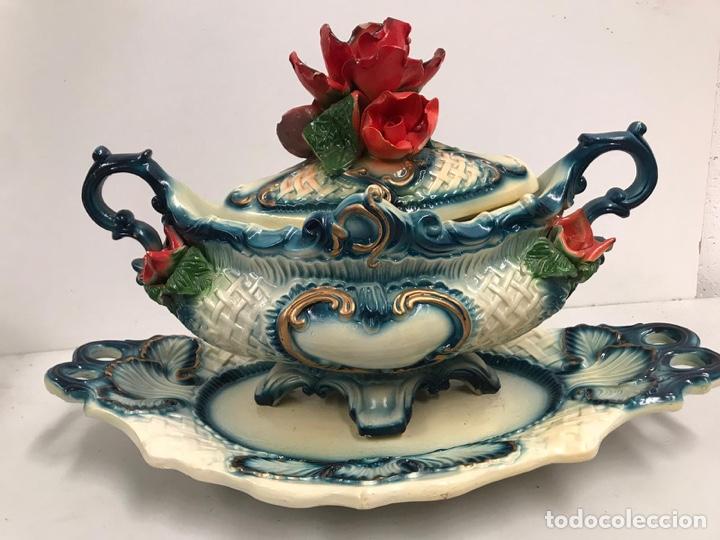 Antigüedades: Sopera de porcelana de lujo - Foto 4 - 200759981