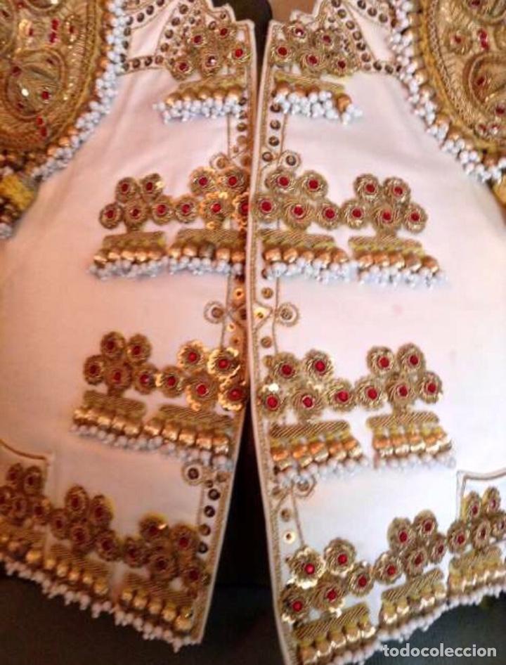 Antigüedades: Traje de Luces 1984 Blanco y Oro - Foto 5 - 200766887