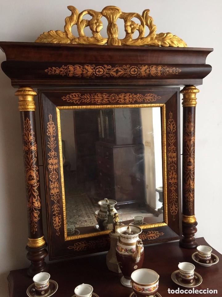 Antigüedades: Consola con espejo - 1835-40 - Foto 2 - 200800781