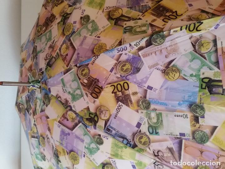 Antigüedades: EXPLENDIDO DE COLECION PARAGUAS SAIDO NO ANO DO EURO HECHO EM DOBLE TELA MANGO COM PEDRITA BRILLANT - Foto 5 - 200806052