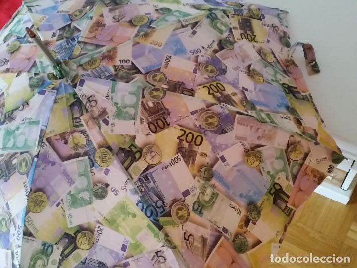 Antigüedades: EXPLENDIDO DE COLECION PARAGUAS SAIDO NO ANO DO EURO HECHO EM DOBLE TELA MANGO COM PEDRITA BRILLANT - Foto 6 - 200806052
