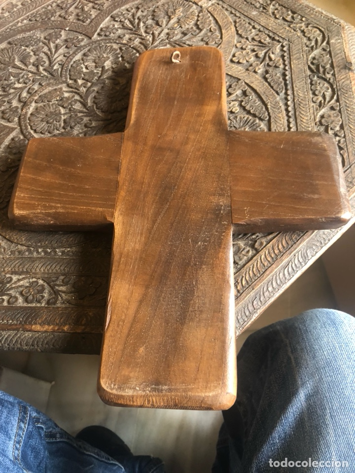 Antigüedades: Antigua cruz de madera para restaurar - Foto 7 - 200812662