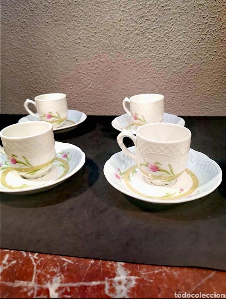 Antigüedades: Lote de tazas de café y platos. Marca Bidasoa, años 70, con decoración floral - Foto 2 - 200819092