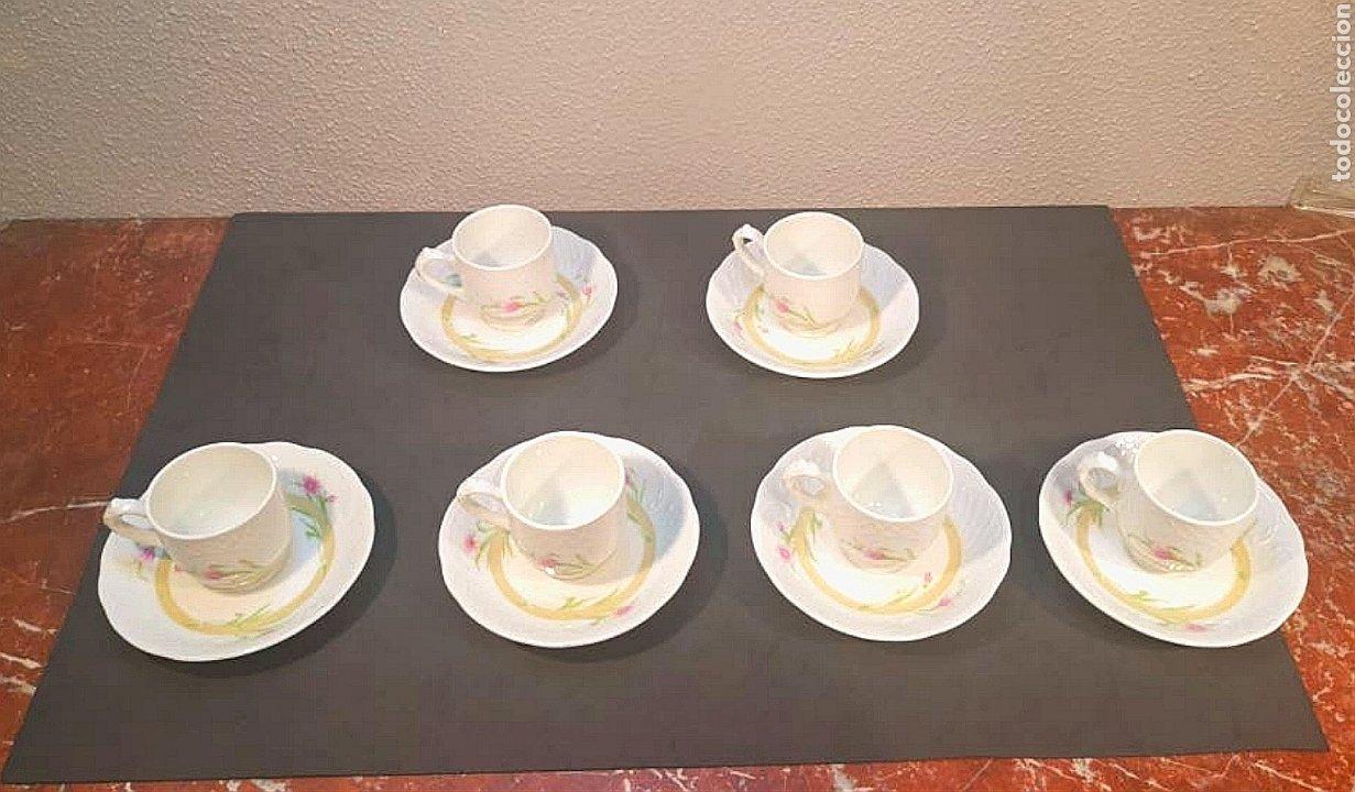 LOTE DE TAZAS DE CAFÉ Y PLATOS. MARCA BIDASOA, AÑOS 70, CON DECORACIÓN FLORAL (Antigüedades - Porcelanas y Cerámicas - Otras)