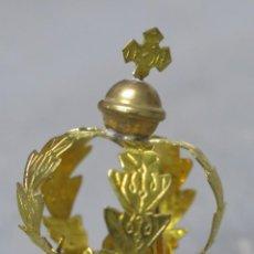 Antigüedades: ANTIGUA CORONA DE LATON DORADO. SIN USO. Lote 200842002