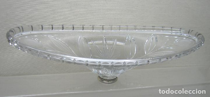 50 CM - ESPECTACULAR CRISTAL TALLADO - CENTRO DE MESA (Antigüedades - Cristal y Vidrio - Otros)