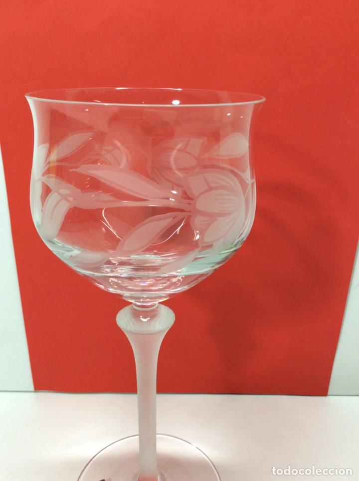 Antigüedades: Spigelau 6 copas de Cristal. Nuevas - Foto 2 - 200869953