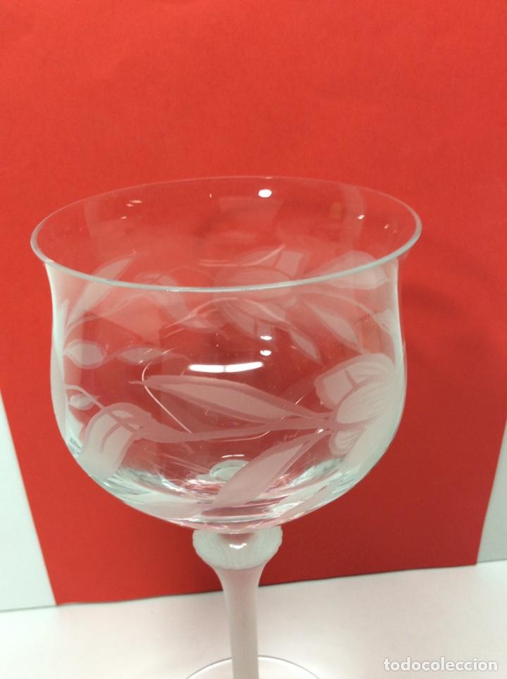 Antigüedades: Spigelau 6 copas de Cristal. Nuevas - Foto 4 - 200869953