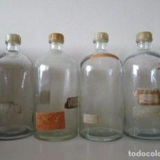 Antigüedades: LOTE DE 4 BOTES GRANDES DE FARMACIA, VINTAGE, VER FOTOS ADICIONALES. Lote 200887240