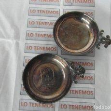 Antigüedades: PAREJA DE CUENCOS PATEADOS CON SELLO DE MENESES SPAIN, PLAME SPAIN. Lote 200887980