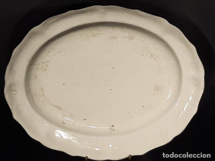 Antigüedades: Fuente de cerámica policromada a mano. Estrasburgo. Francia. Siglo XVIII-XIX. - Foto 14 - 200888757
