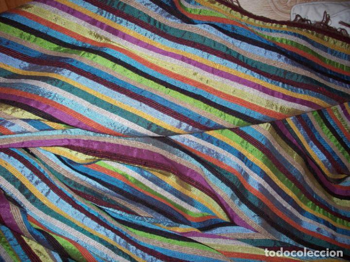 Antigüedades: PRECIOSA COLCHA EN SEDA DE COLORES . ORIGEN MARROQUI - Foto 10 - 201102485