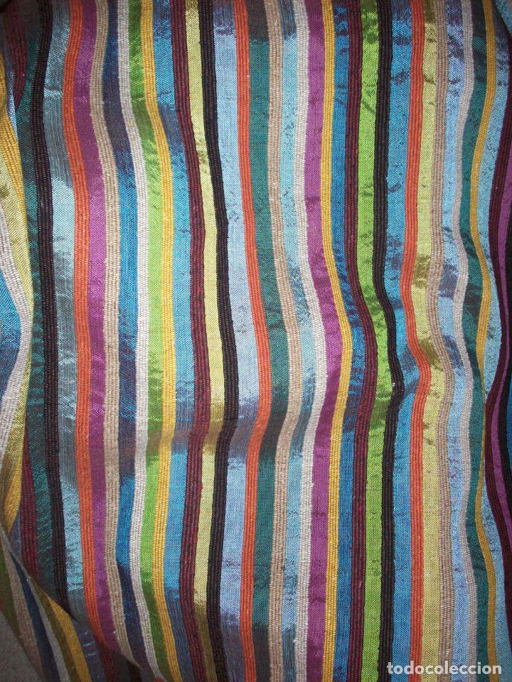 Antigüedades: PRECIOSA COLCHA EN SEDA DE COLORES . ORIGEN MARROQUI - Foto 11 - 201102485