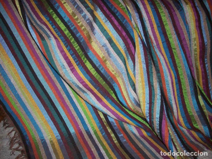 Antigüedades: PRECIOSA COLCHA EN SEDA DE COLORES . ORIGEN MARROQUI - Foto 17 - 201102485